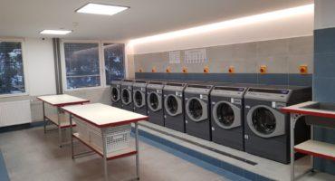Samoobslužná prádelna na kolejích Sázava v Praze