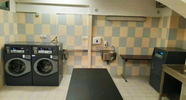 Prádelna v bytovém domě Francouzská v Brně